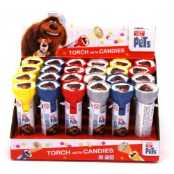 PETS Espositore n. 24 Torce con caramelle 8 gr