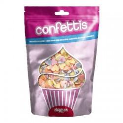 Confezione Decorazioni in Zucchero Cuoricini Colorati 100 gr