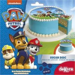 PAW PATROL Disco in Zucchero per Torte ø 16 cm