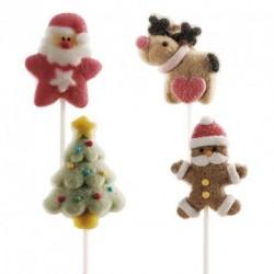 Busta n.4 Lecca Lecca Marshmallow Natale 48 gr