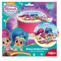 SHIMMER & SHINE Disco in Zucchero per Torte ø 16 cm