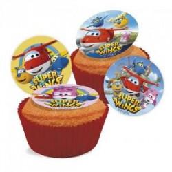SUPER WINGS Dischetti in Zucchero per Cupcakes ø 3,4 cm