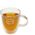 Bicchiere in vetro per té e tisane con doppio fondo - TEA OF LIFE