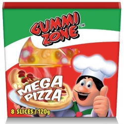 Mega pizza gummy incartata gr.120
