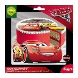 CARS 3 Disco in Zucchero per Torte ø 16 cm