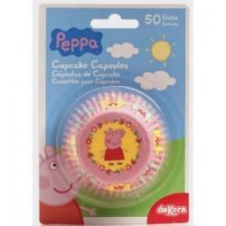PEPPA PIG Pirottini per Cupcakes 50 pz ? ø 5 h 3 cm