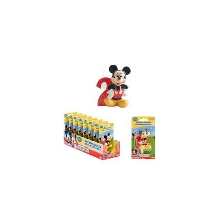 TOPOLINO-MICKEY MOUSE Candelina N.2 6,5 cm