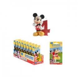 TOPOLINO-MICKEY MOUSE Candelina N.4 6,5 cm