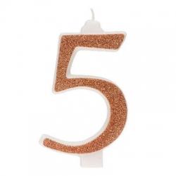 Candelina Glitter n. 5 cm 13 oro