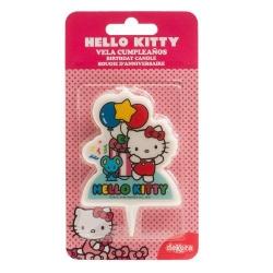 HELLO KITTY 2D Candelina 8 cm