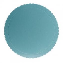 BASE PER TORTA ROTONDA ONDULATA AZZURRA 30 cm diametro