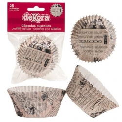 GIORNALE Pirottini per Cupcakes 25 pz ? ø 5 cm h 3 cm