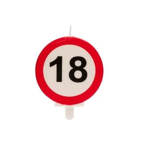 18° COMPLEANNO SEGNALE DIVIETO candelina 6,3CM