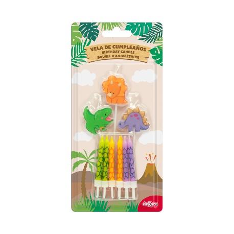 DINOSAURI MIX candeline compleanno 3-5 cm