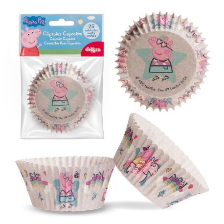 PEPPA PIG Pirottini per Cupcakes 25 pz ? ø 5 cm h 3 cm